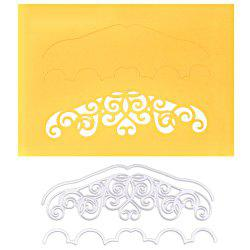 DIY Embossed Carbon Steel Post Card Edge Pattern Cutting Die Set -