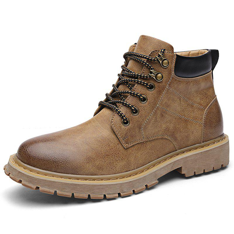 Outfit Microfiber and PU Casual Martin Boots for Men
