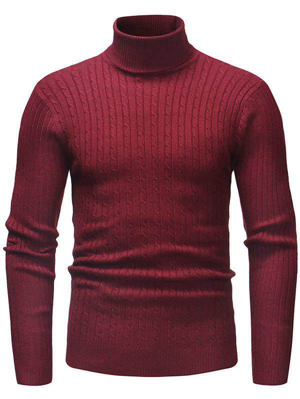 Outfits Fashion Comfortable Classic Turtle Neck Stripe Sweater for Men