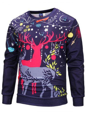 Christmas Printed 3D Autumn Winter Cartoon Floral Hoodie for Man