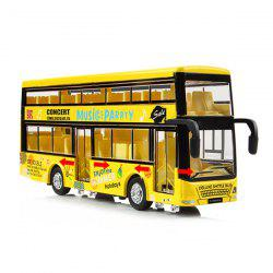 Kids Alloy Pullback Double-decker Bus with Lighting Sound Toy Model -
