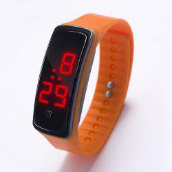 LED Silicone Electronic Sports Watch -