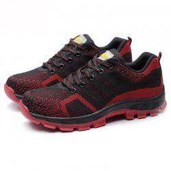 Men Lace Up Mesh Fabric Casual Athletic Sneakers Sports Shoes -