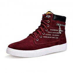 Letter Print High Top Ventilate Sneakers -