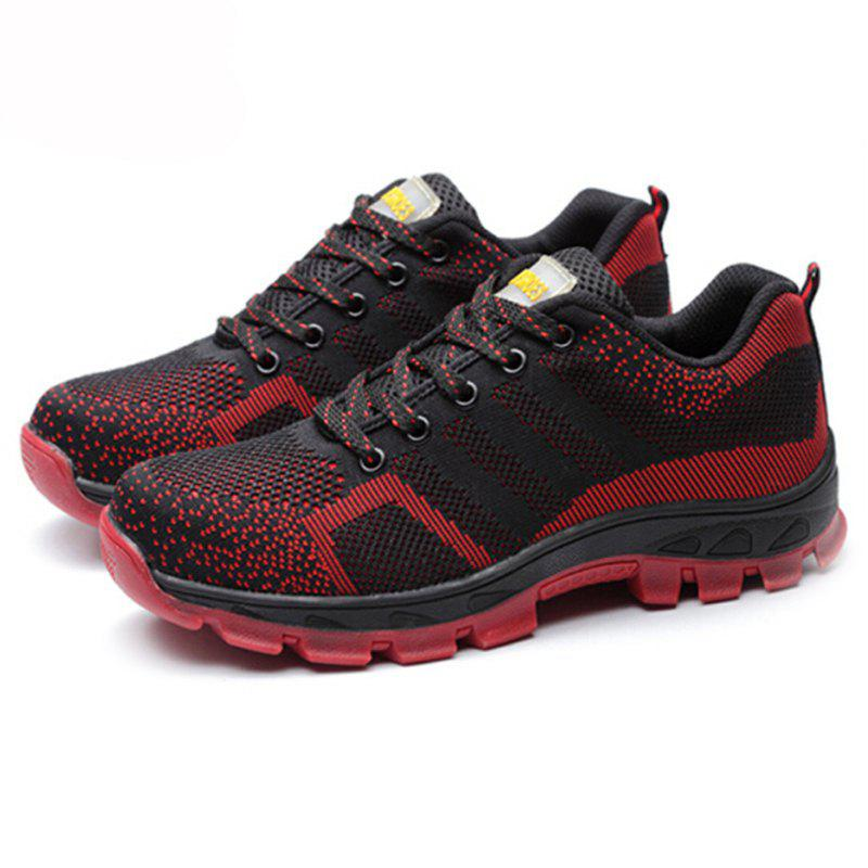 Online Men Lace Up Mesh Fabric Casual Athletic Sneakers Sports Shoes