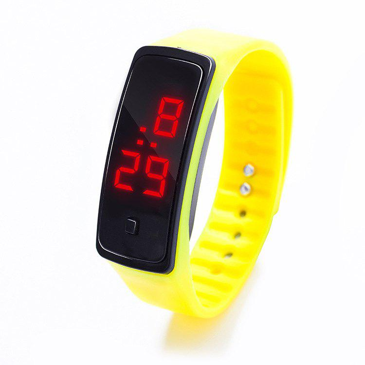Fancy LED Silicone Electronic Sports Watch