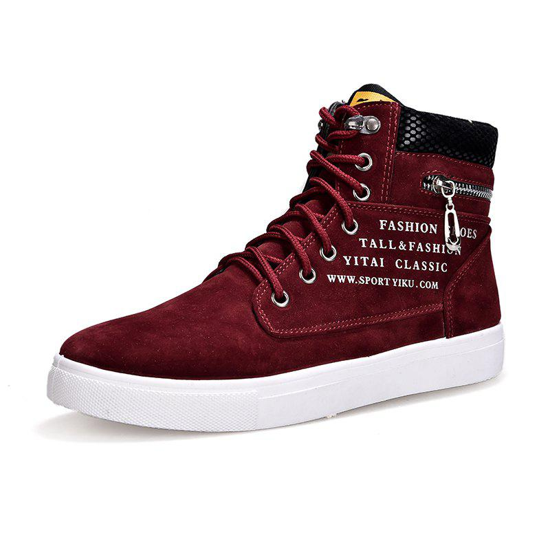 Affordable Letter Print High Top Ventilate Sneakers