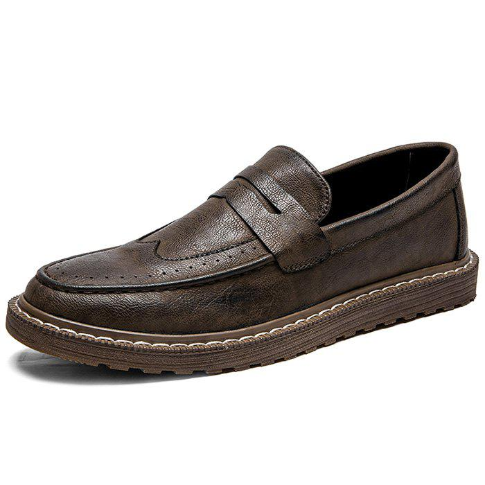 Outfit Fashionable Casual Microfiber Loafers for Men