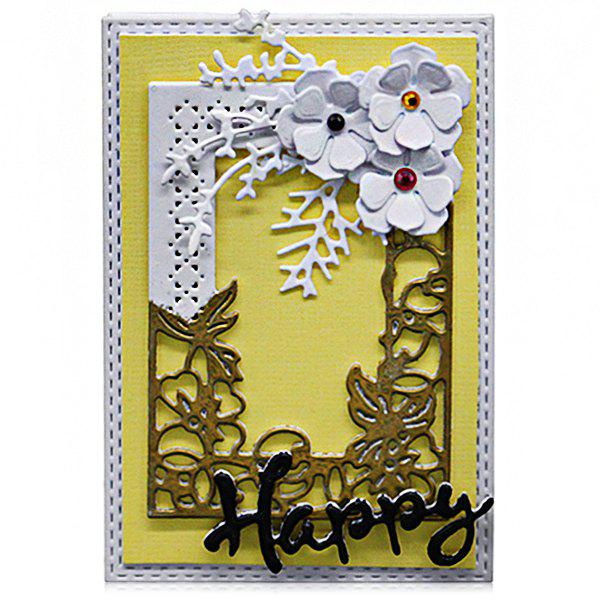 Trendy DIY Embossed Carbon Steel Post Card Pattern Cutting Die Set