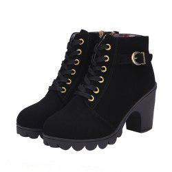 Casual Chunky Heel Ankle Boots for Women -