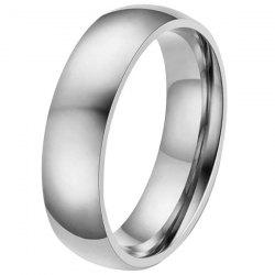 6mm Width Durable Stainless Steel Men Ring -