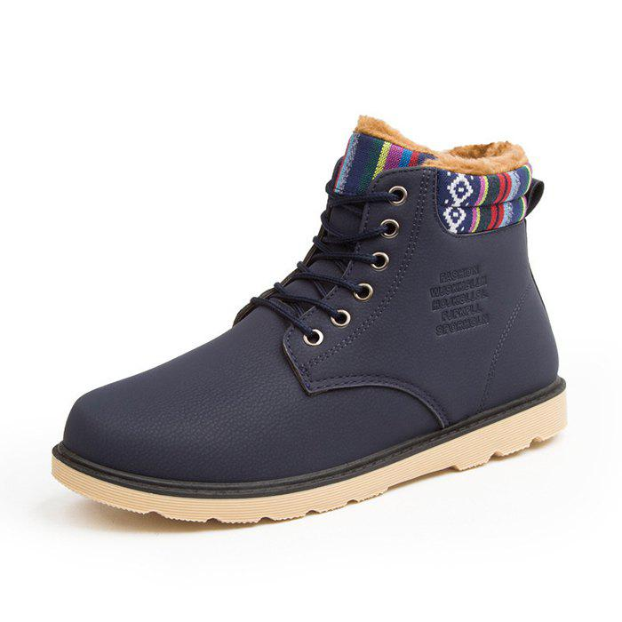 Discount Thickening Leather Martin Boots for Men