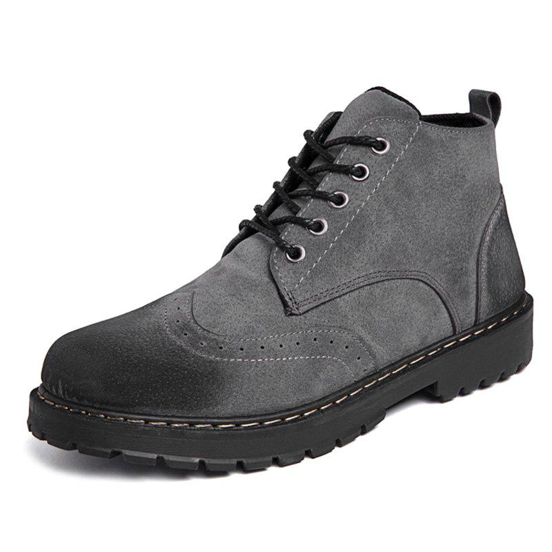 Discount Lace Up Outdoor Work Boots for Men