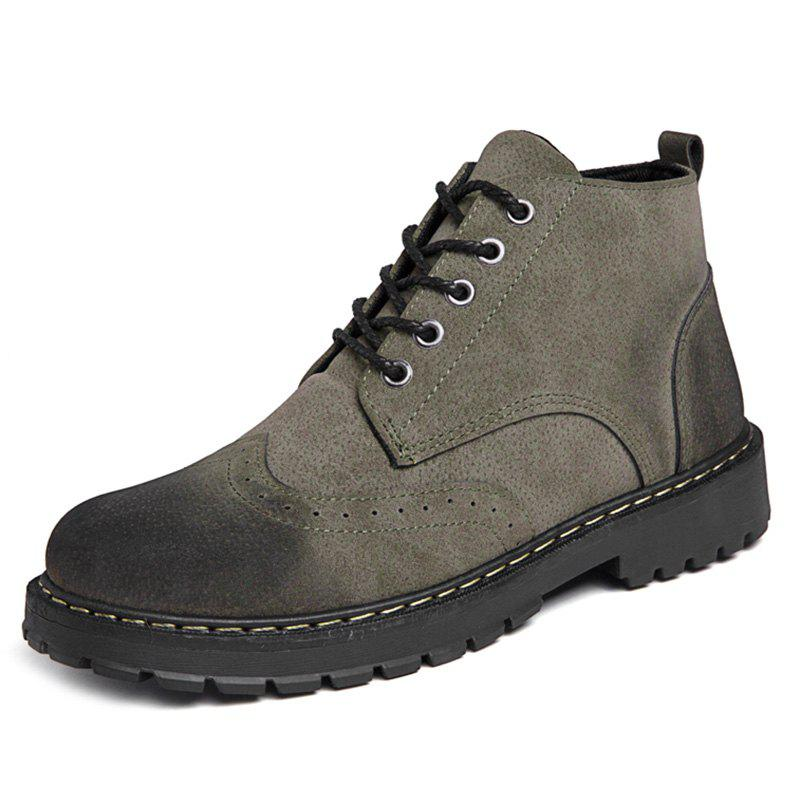 Unique Lace Up Outdoor Work Boots for Men