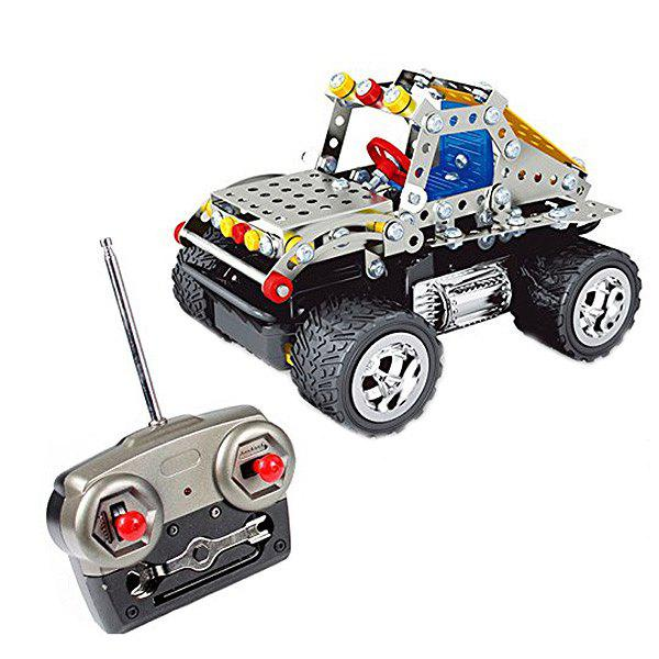Shop 816C - 2 181pcs 3D Metal DIY Remote-controlled Hummer Model Educational Assembled Toy