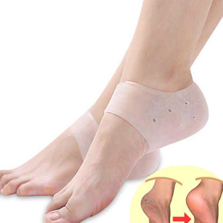 Fancy Foot Crack Breathable Guard Silicone Hole Heel Protector 2pcs
