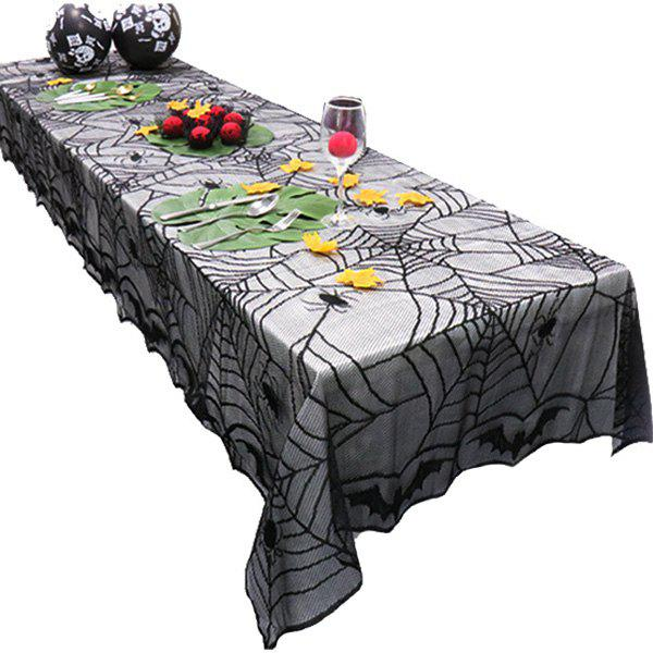 New Black Halloween Lace Bat Spider Net Pattern Table Cloth