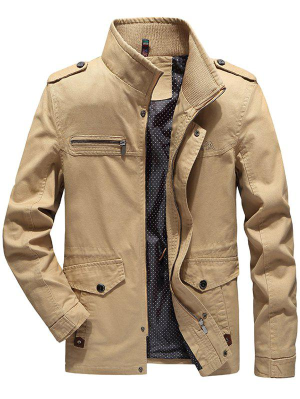 Affordable Autumn Men's Cotton Stand Collar Jacket