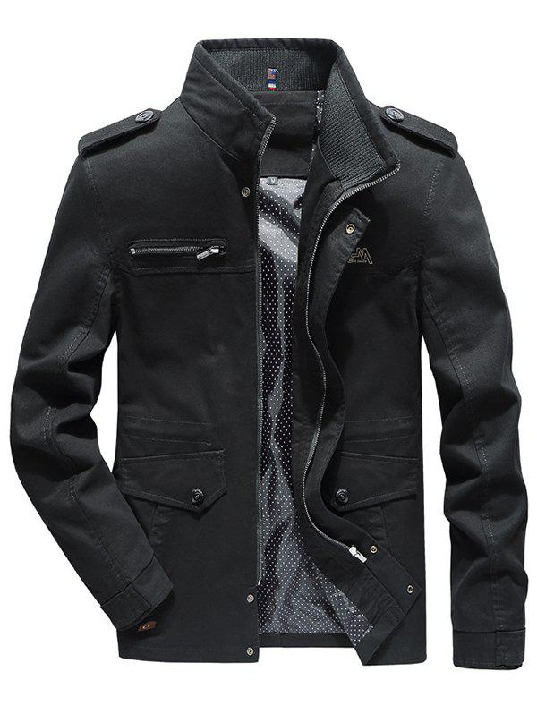 Latest Autumn Men's Cotton Stand Collar Jacket