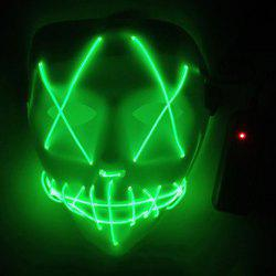 LED Scary Face Seam Eye Mouth Fork Lighting Halloween Carnival Mask -