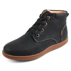 Winter Warm Cotton-padded Leather Male Boots -
