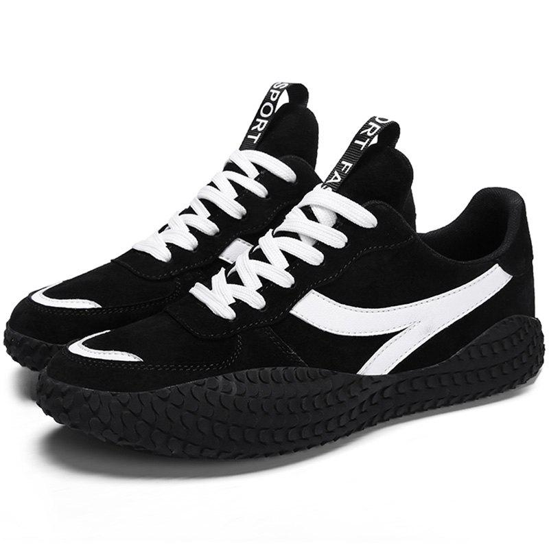 Fancy Microfiber Leather Lace Up Casual Sports Shoes Sneakers for Men