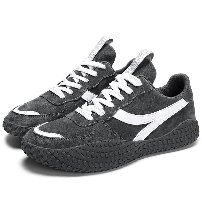 Fashion Microfiber Leather Lace Up Casual Sports Shoes Sneakers for Men