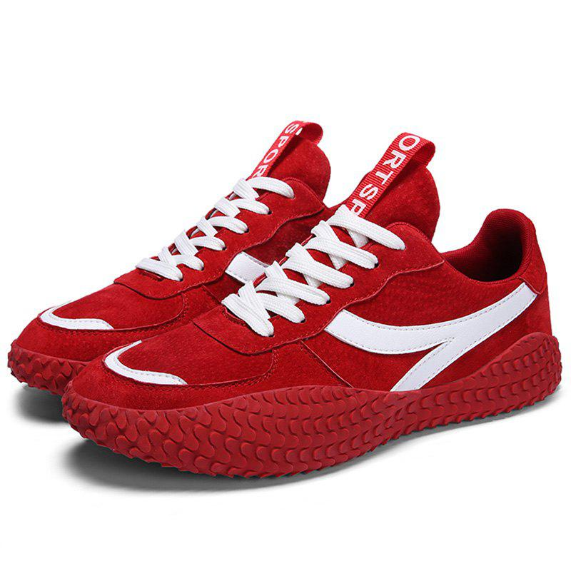 Shops Microfiber Leather Lace Up Casual Sports Shoes Sneakers for Men