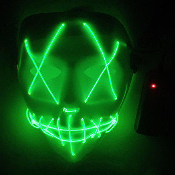 Fancy LED Scary Face Seam Eye Mouth Fork Lighting Halloween Carnival Mask