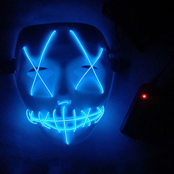 Sale LED Scary Face Seam Eye Mouth Fork Lighting Halloween Carnival Mask