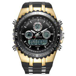 MIZUMS 8016 Male Quartz + Digital Watch with Silicone Strap -