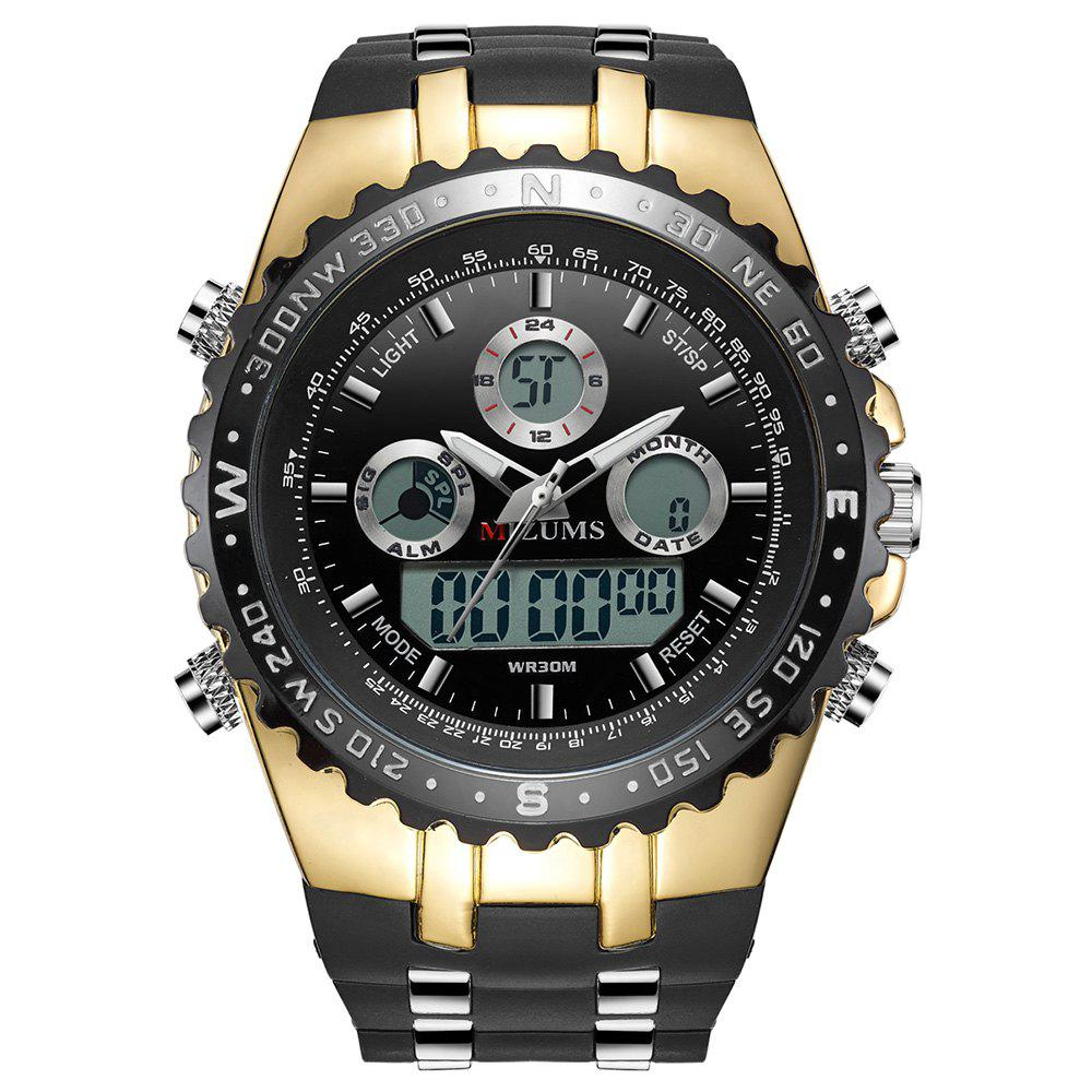 Chic MIZUMS 8016 Male Quartz + Digital Watch with Silicone Strap