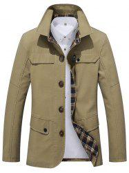 Fashionable Turn-down Collar Slim Jacket for Men -