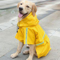 Pet Clothes Dog Hooded Waterproof Raincoat with Reflective Strip -