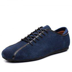 Suede Loafers Casual Flat Shoes for Men -
