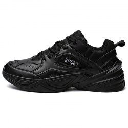 Fashion Mesh Patent Leather Sneakers for Men -