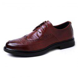 Leisure Wear-resistant Lace-up Men Leather Casual Shoes -