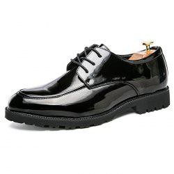 Fashion Wear-resistant Lace-up Men Leather Casual Shoes -