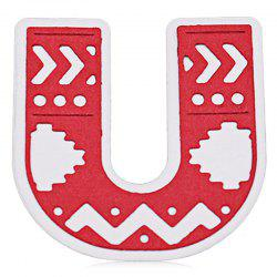 Delicate DIY Capital Letter U Style Cutting Die -