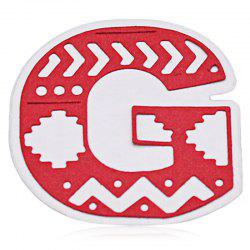 DIY Uppercase Letter G Pattern Carbon Steel Cutting Die -