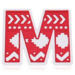 Delicate DIY Capital Letter M Style Cutting Die -