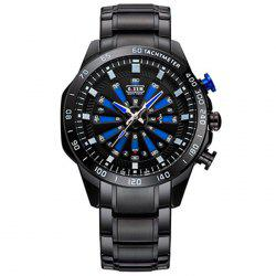 6.11 Genuine Dazzle Steel Band LED Multifunctional Sport Men Watch -