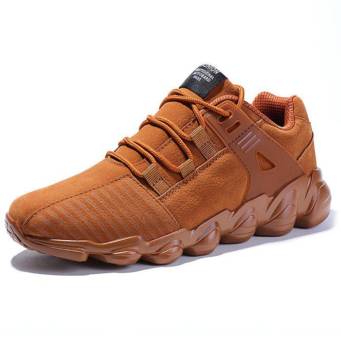Outfit Fashion Solid Color PU Sneakers for Men