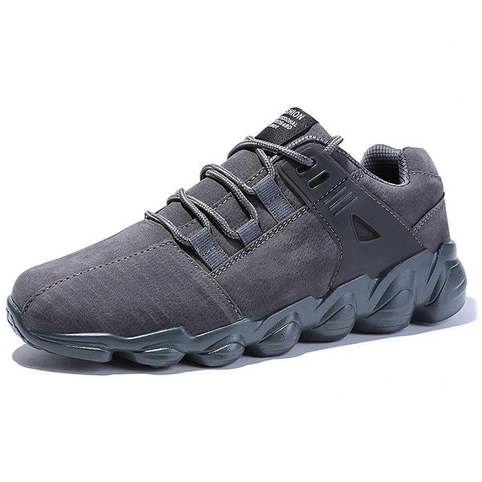 Affordable Fashion Solid Color PU Sneakers for Men