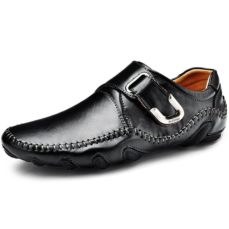 Outfit Genuine Leather Casual Flat Shoes for Men