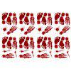 Halloween Adornment Blood Hand Wallpaper 8pcs -