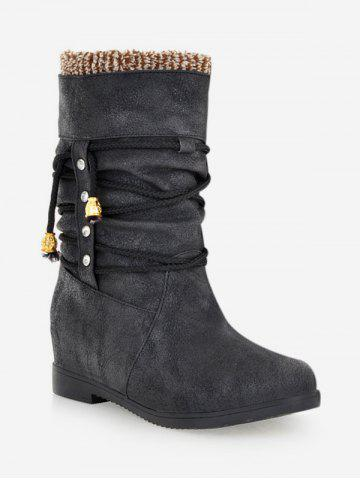 Plus Size Increased Heel Stud Short Boots