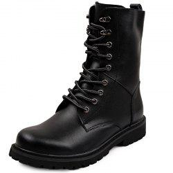 Genuine Leather Lace Up Tall Boots Shoes for Men -