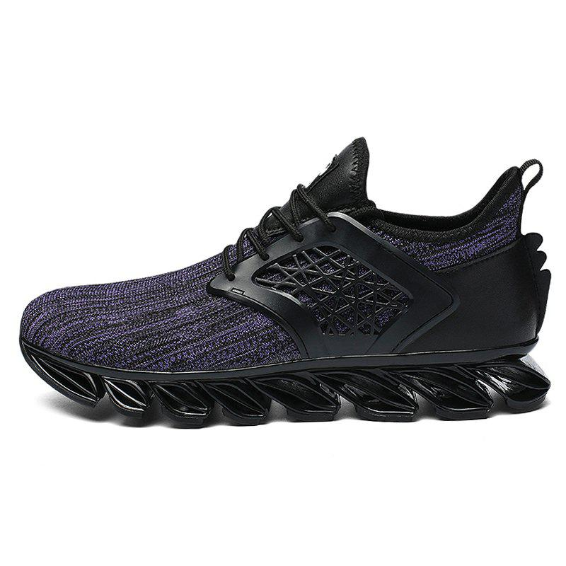 Unique Men Lace Up Casual Athletic Running Shoes Sneakers