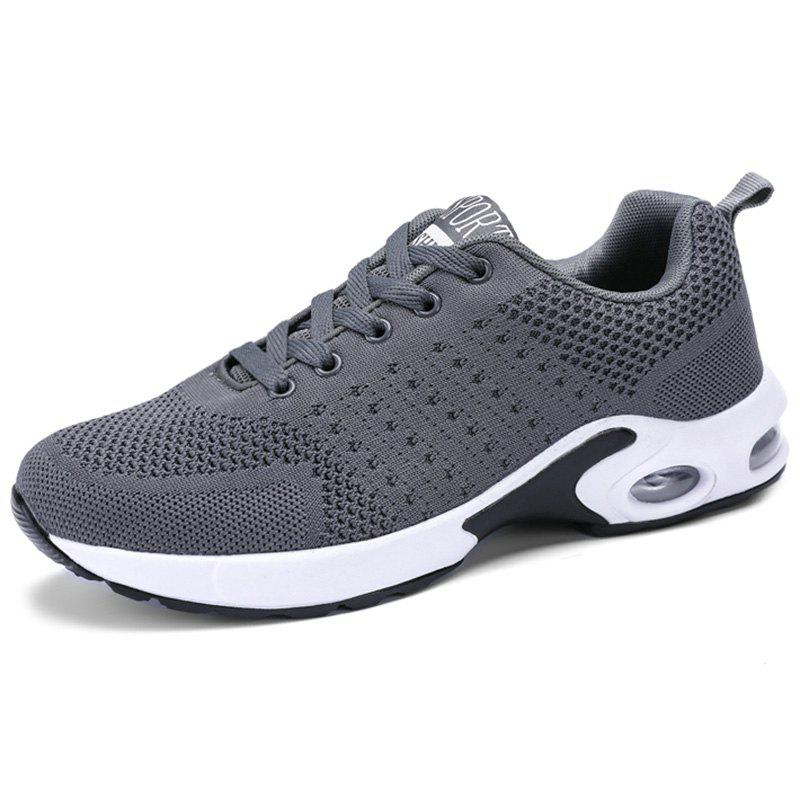 Fancy Men Lace Up Breathable Casual Running Shoes Sneakers